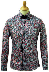 Classic Paisley Guide London Retro 60s Mod Shirt R