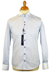 GUIDE LONDON 60s Mod Microdot Double Collar Shirt