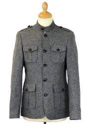 GUIDE LONDON Retro Indie Mod Military Tunic Jacket
