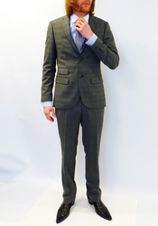 GUIDE LONDON Retro Mod POW Check 2 Piece Suit