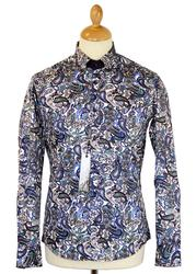 Floral Multi Paisley GUIDE LONDON Retro Mod Shirt