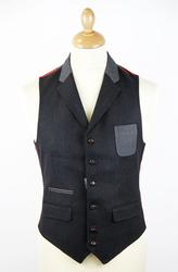 GUIDE LONDON Retro Mod Tailored 2-Tone Waistcoat