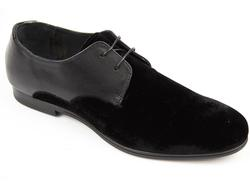 Robbins H by HUDSON Retro Velvet & Leather Shoes
