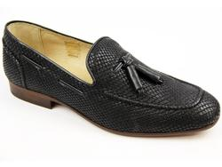 Pierre H by HUDSON Retro Mod Snake Stamp Loafers