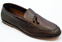 Pancho H by HUDSON 60s Mod Basket Weave Loafers
