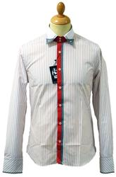 Harry JEKYLL & HYDE Retro 60s Mod Pinstripe Shirt