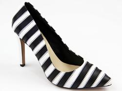 Sonya Court LACEYS Retro 70s Stripe Stiletto Shoes