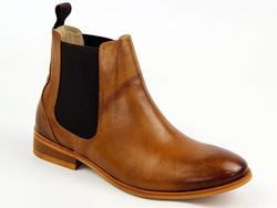 Odele Gusset LACEYS Retro 60s Chelsea Boots TAN