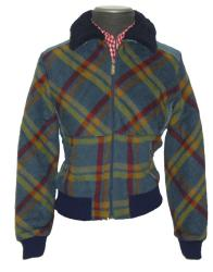 'Parklife' - Ladies Retro Indie Jacket (Blue)