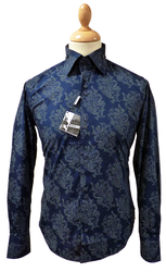 LAMBRETTA 60s Mod Paisley Big Collar Retro Shirt