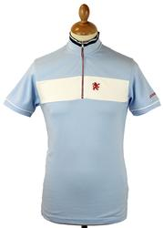 LAMBRETTA Retro Indie Mod Pique Panel Cycling Top