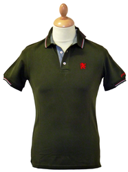 LAMBRETTA Classic Retro Mod Tipped Polo Top (F)