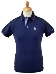 LAMBRETTA Classic Retro Mod Tipped Polo Top (N)