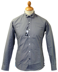 LAMBRETTA 60s Mod Penny Collar Button Down Shirt A