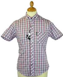 Classic Check LAMBRETTA Retro Penny Collar Shirt