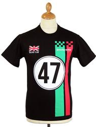 Racing Team LAMBRETTA Retro Mod Scooter Rally Tee