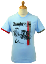 LAMBRETTA Retro Racing Stripe Scooter T-Shirt (S)