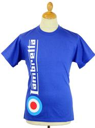 LAMBRETTA Mod TArget Side Logo Retro T-shirt ROYAL