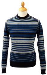 LAMBRETTA Retro Engineered Stripe Mod Jumper (N)