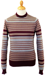 LAMBRETTA Retro Engineered Stripe Mod Jumper (M)