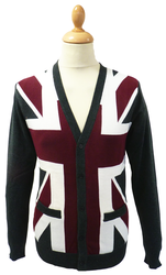 Union Jack LAMBRETTA Retro 60s Mod Flag Cardigan