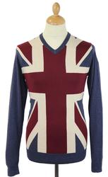 LAMBRETTA Retro Mod Union Jack Pop At Jumper I/O