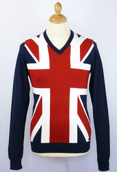 Union Jack LAMBRETTA Retro Indie Mod Knit Jumper