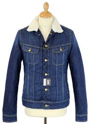 LEE Sherpa Jacket Retro 70s Mod Denim Jacket (EW)