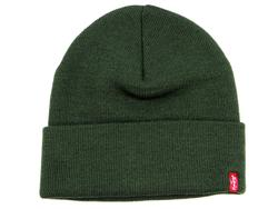 LEVI'S® Retro Indie Knitted Beanie Hat DARK GREEN