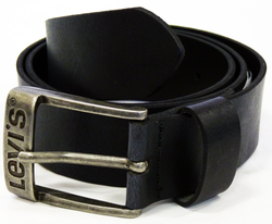 LEVI'S® Mens Retro Smart Leather Belt (Black)