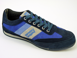 LEVI'S Retro Indie Canvas Suede Running Trainers