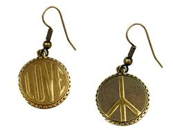 + Love Peace Earrings LOVE BOUTIQUE 60s Earrings
