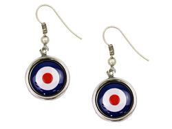 + Mod Target Earrings LOVE BOUTIQUE Retro Earrings