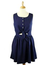 Pippa LOVESTRUCK Retro Skater Dress with Tie Waist