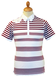 Ryder LUKE 1977 Retro Engineered Stripe Indie Polo