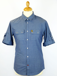 Yellow Beard LUKE 1977 Textured Chambray Mod Shirt