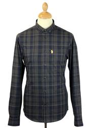 Slashers LUKE DENIM Mod Button Down Check Shirt CM