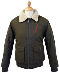 T-Abbot LUKE 1977 Retro Sherpa Trim Flight Jacket
