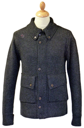 Charless LUKE 1977 Retro Mod Chunky Knit Cardigan