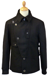 Marky LUKE 1977 Retro Mod Melton Reefer Jacket