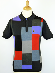 Caulderbank LUKE 1977 Retro Mod Block Knit Polo