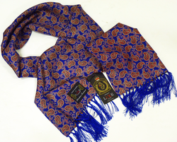 Leaf Paisley LUKE 1977 Retro 60s Mod Silk Scarf RB
