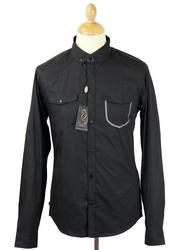 Private LUKE 1977 Mod Button Down Military Shirt