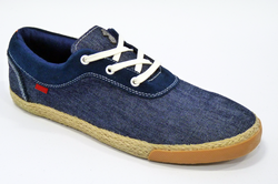 LUKE 1977 RETRO THURL DENIM TRAINERS ESPADRILLE 70
