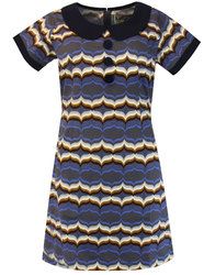 madcap england dollierocker waves 60s mod dress