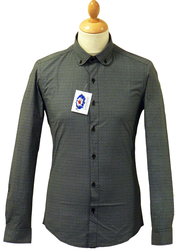 Aftermath MADCAP 60s Mod Op Art Round Collar Shirt