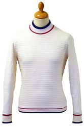 Nelson MADCAP Retro 60s Mod Mock Turtleneck Jumper