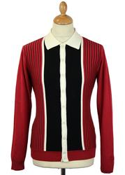 Pinstripe Marriott MADCAP ENGLAND Polo Cardigan MB