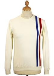 Attack MADCAP ENGLAND Retro 60s Mod Racing Jumper