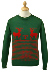 Run Rudolph Run Retro Christmas Jumper by MADCAP G